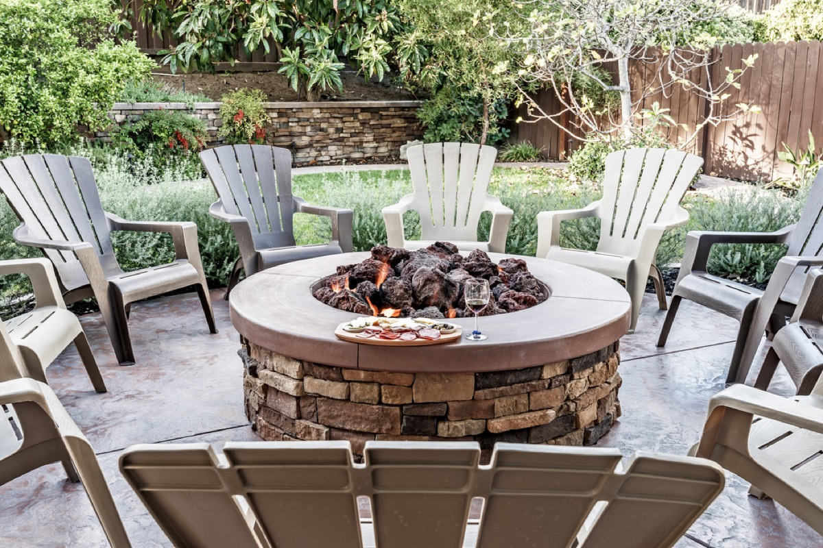 outdoor fire feature, increase home value