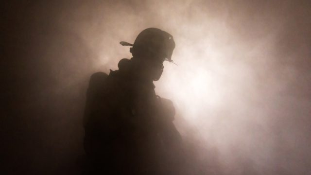 firefighter putting out home fires