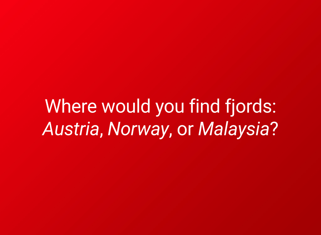 fjords question