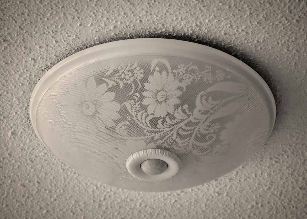flush mount light on popcorn ceiling