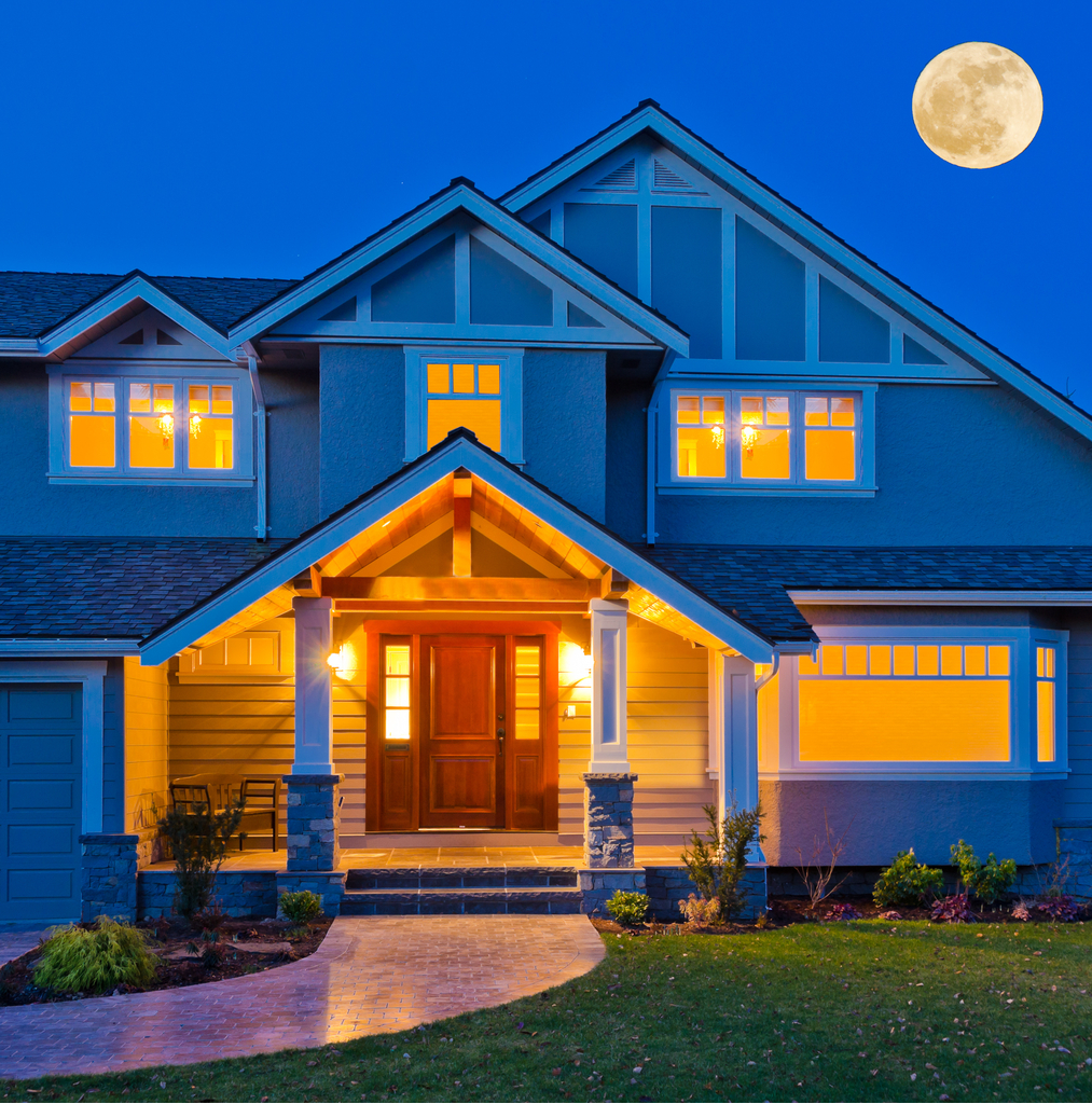 lights on in a house