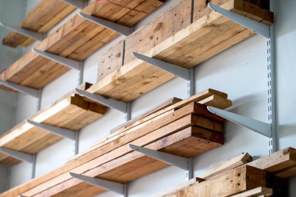 storage shelves garage hacks