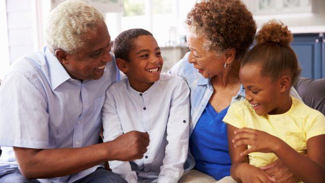 grandparents with grandkids,