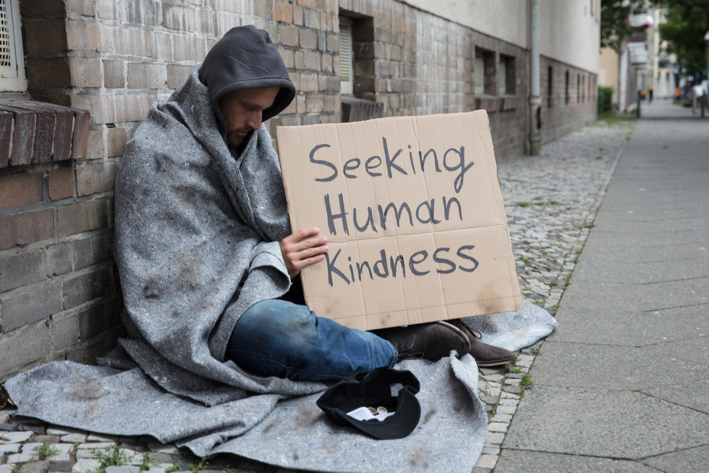 Homeless Man with Sign Pay it Forward Stories