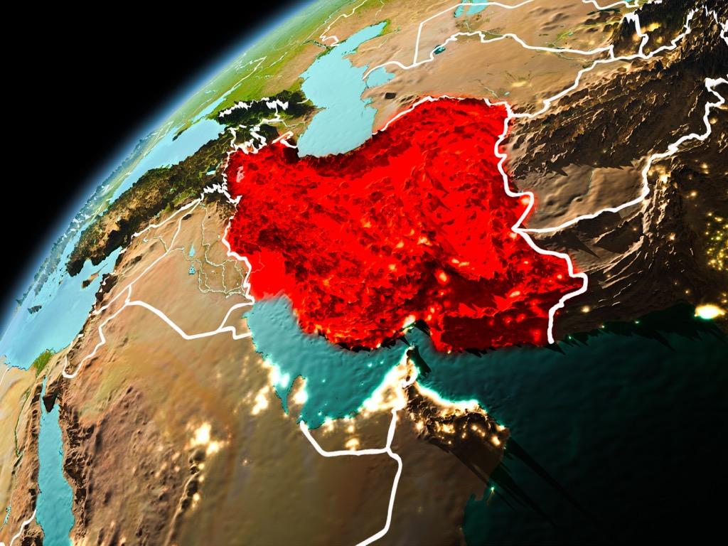 iran satellite view