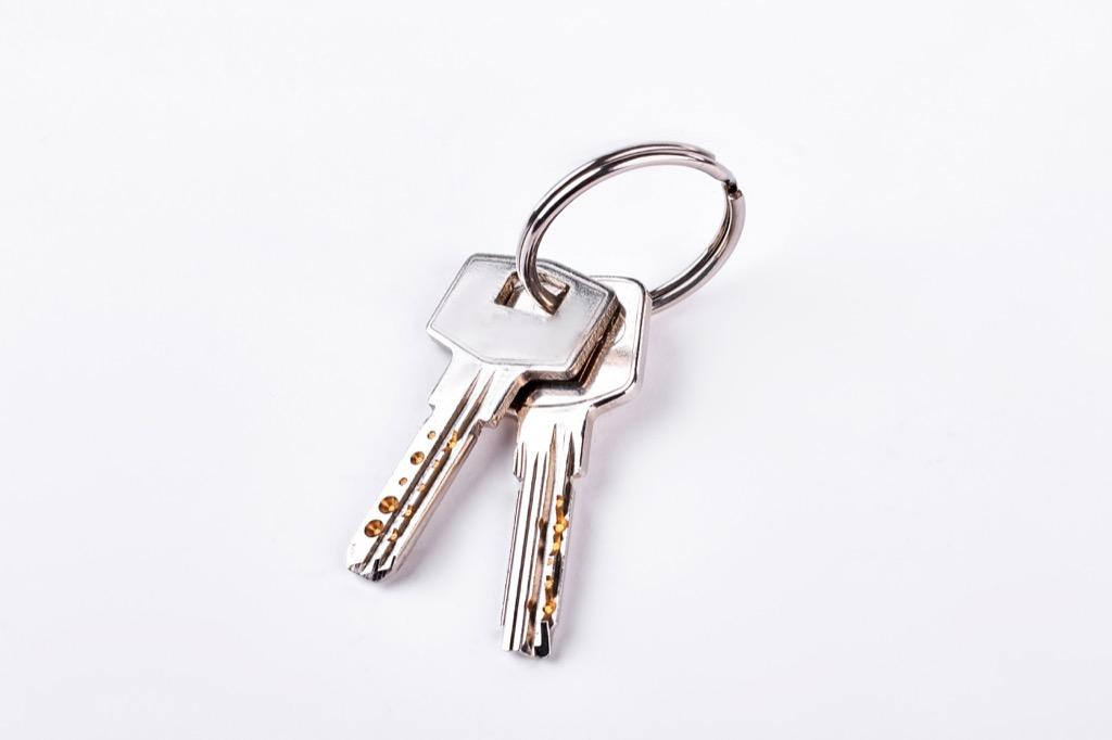 spare keys things to throw away