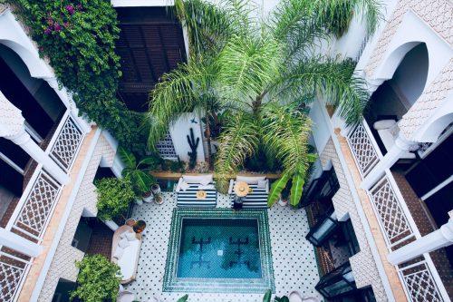 marrakesh Riad Yasmine courtyard pool