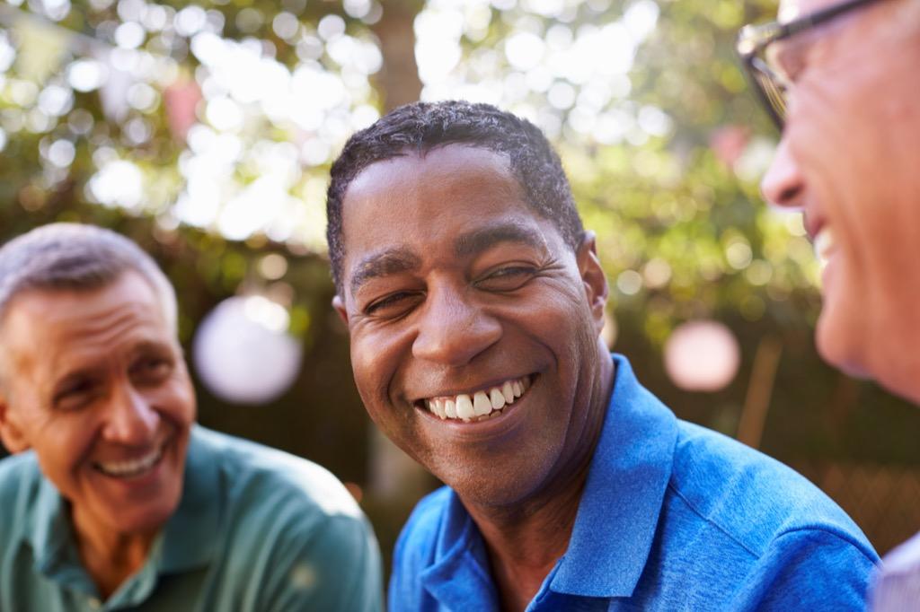 older men talking, things about turning 40