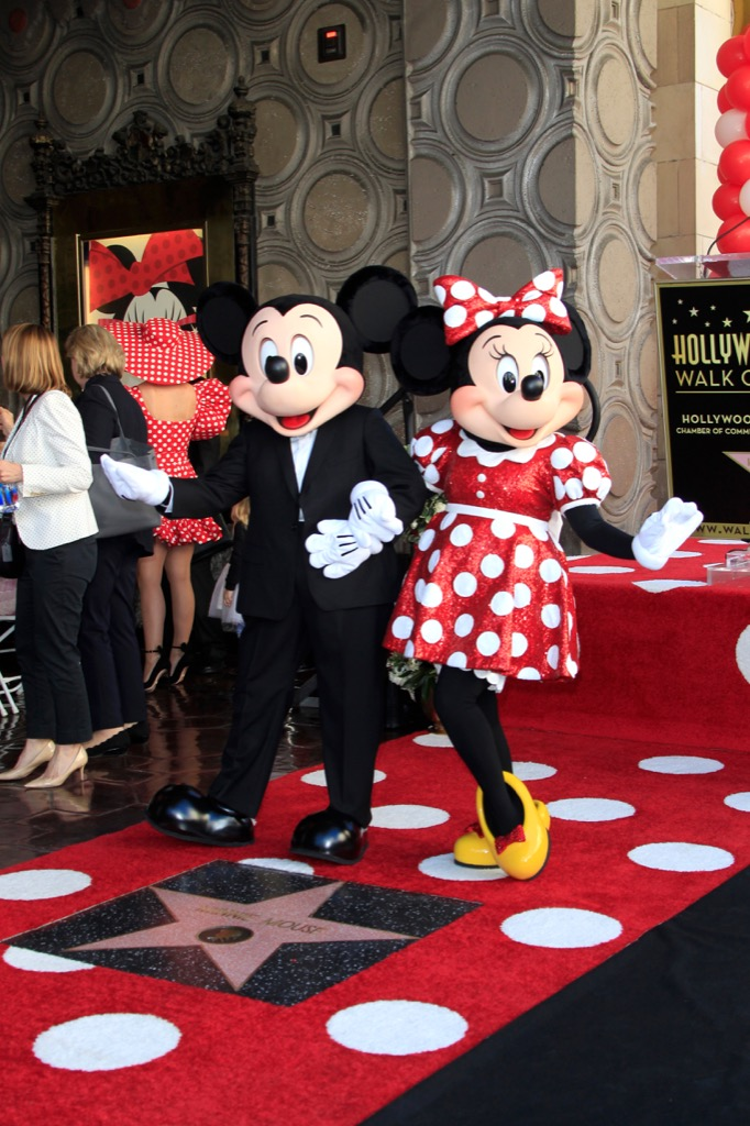 mickey mouse and minney mouse