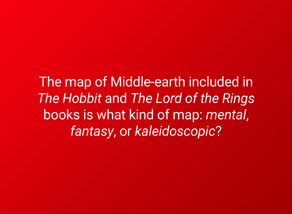 middle earth map question
