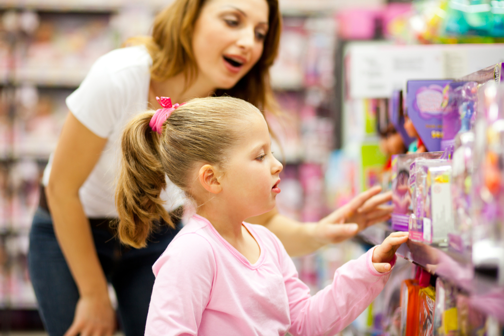 Mom and Daughter Buying Toys, things you should never lie to kids about