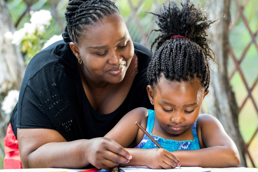 mom helping daughter with homework, how parenting has changed