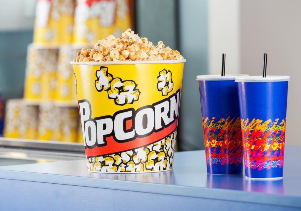 popcorn and drinks