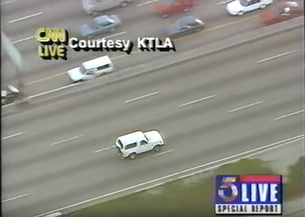 oj simpson car chase crazy live tv moments