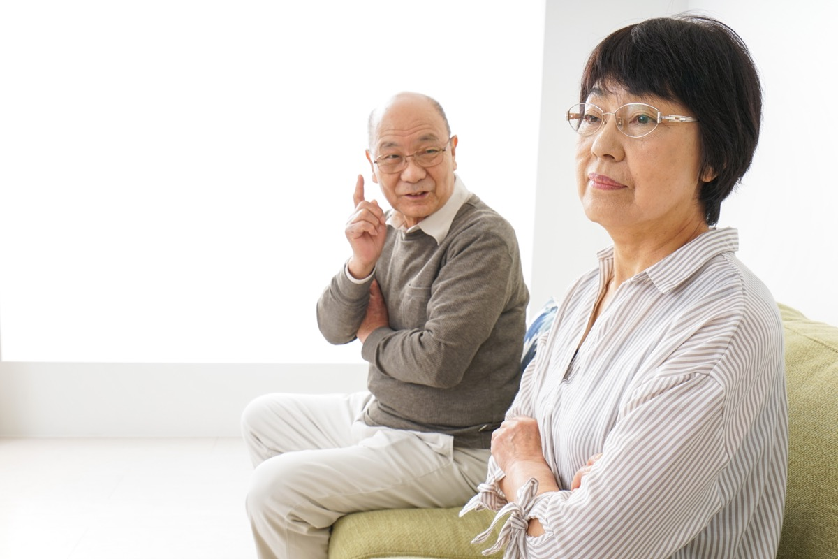 older couple fighting, long marriage tips