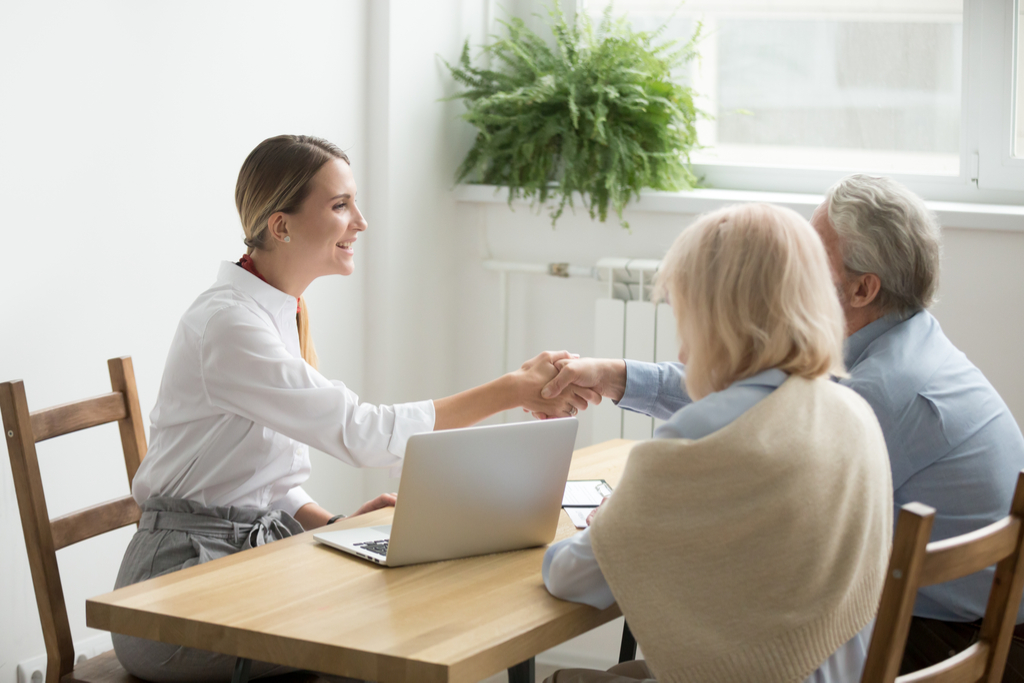 Older Couple Talking to Lawyer Not Ready to Retire