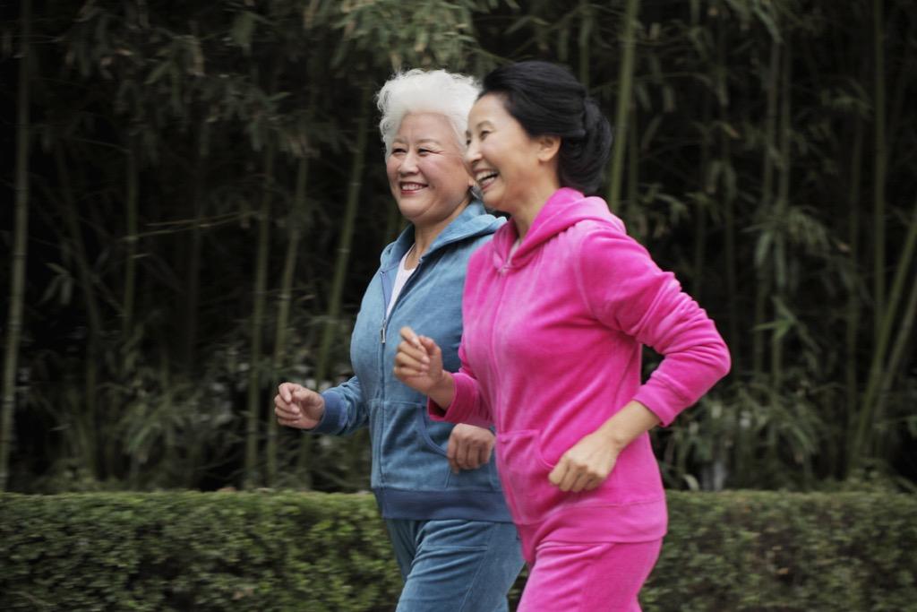 Older Women Walking {Weight Loss Secrets}