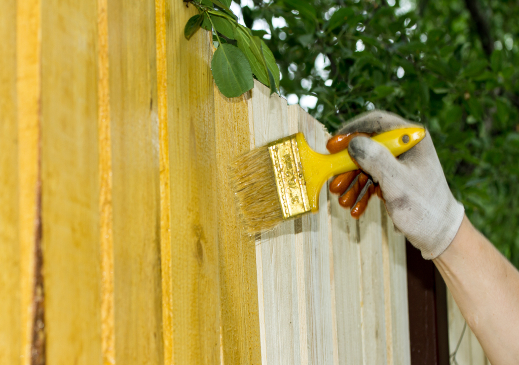Painting Fence Boosting Your Home's Curb Appeal