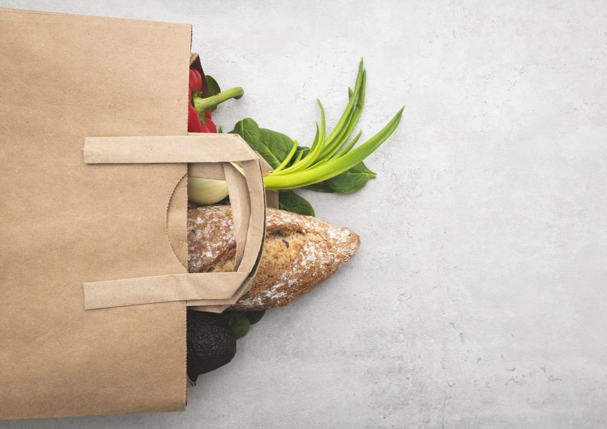 Full paper bag of different health food