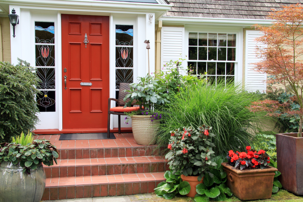 Planters Outside Home Boosting Your Home's Curb Appeal