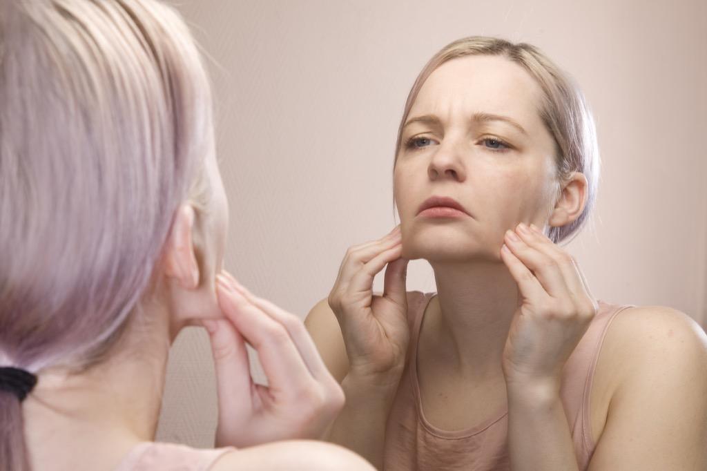 woman with sagging skin