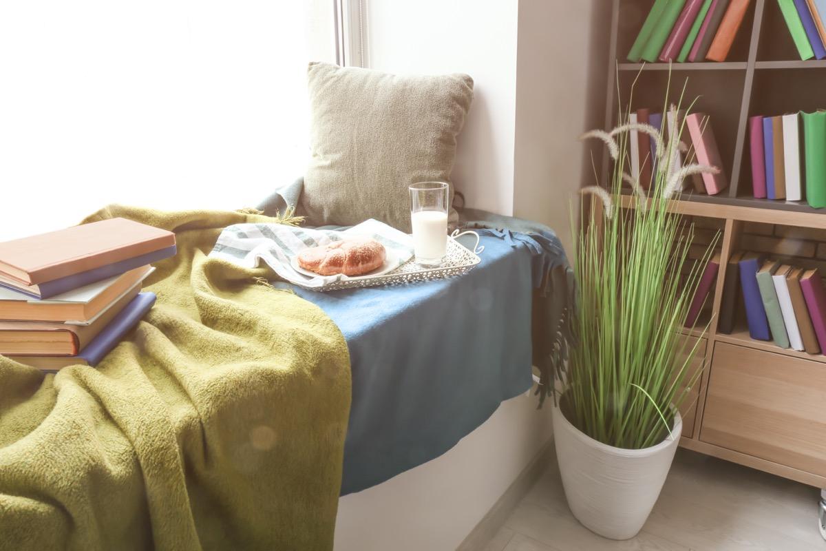 Cozy reading nook home upgrades