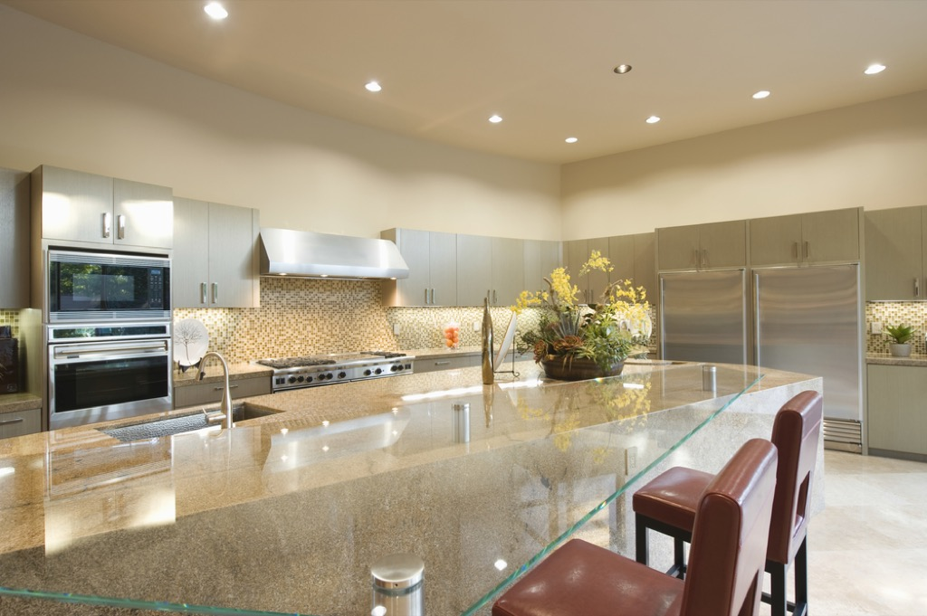 modern kitchen with recessed lighting, home upgrades