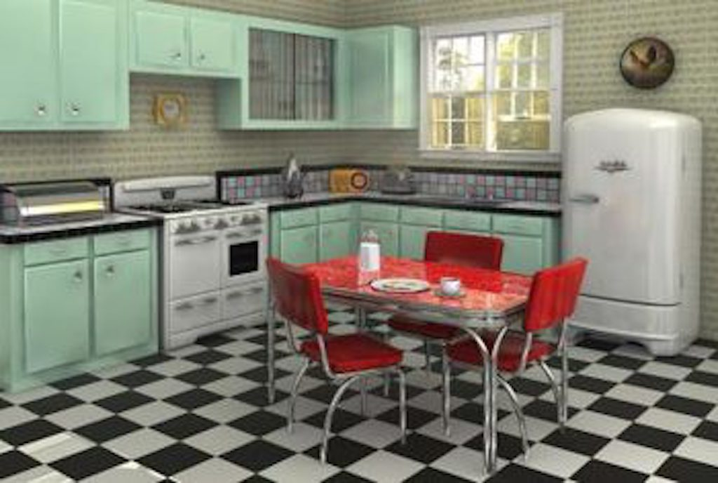 Red Vinyl Chairs 1950s worst interior design trends