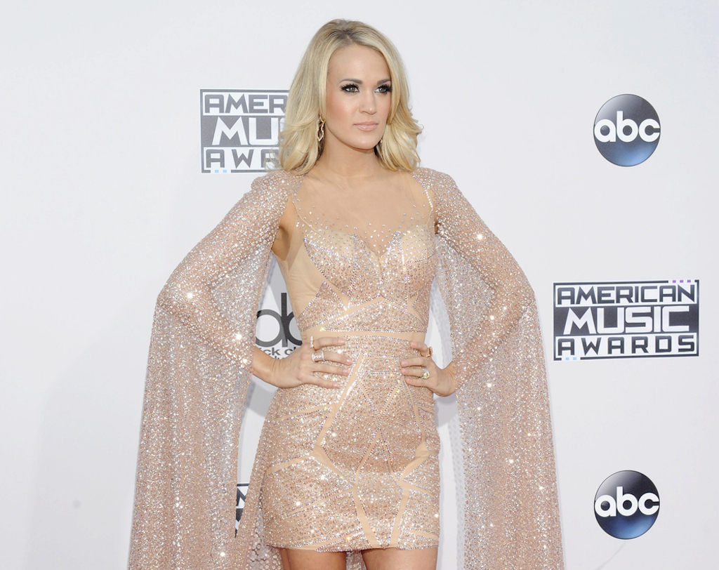 vegan celebrities - Carrie Underwood at the 2015 American Music Awards held at the Microsoft Theater in Los Angeles, USA on November 22, 2015. - Image