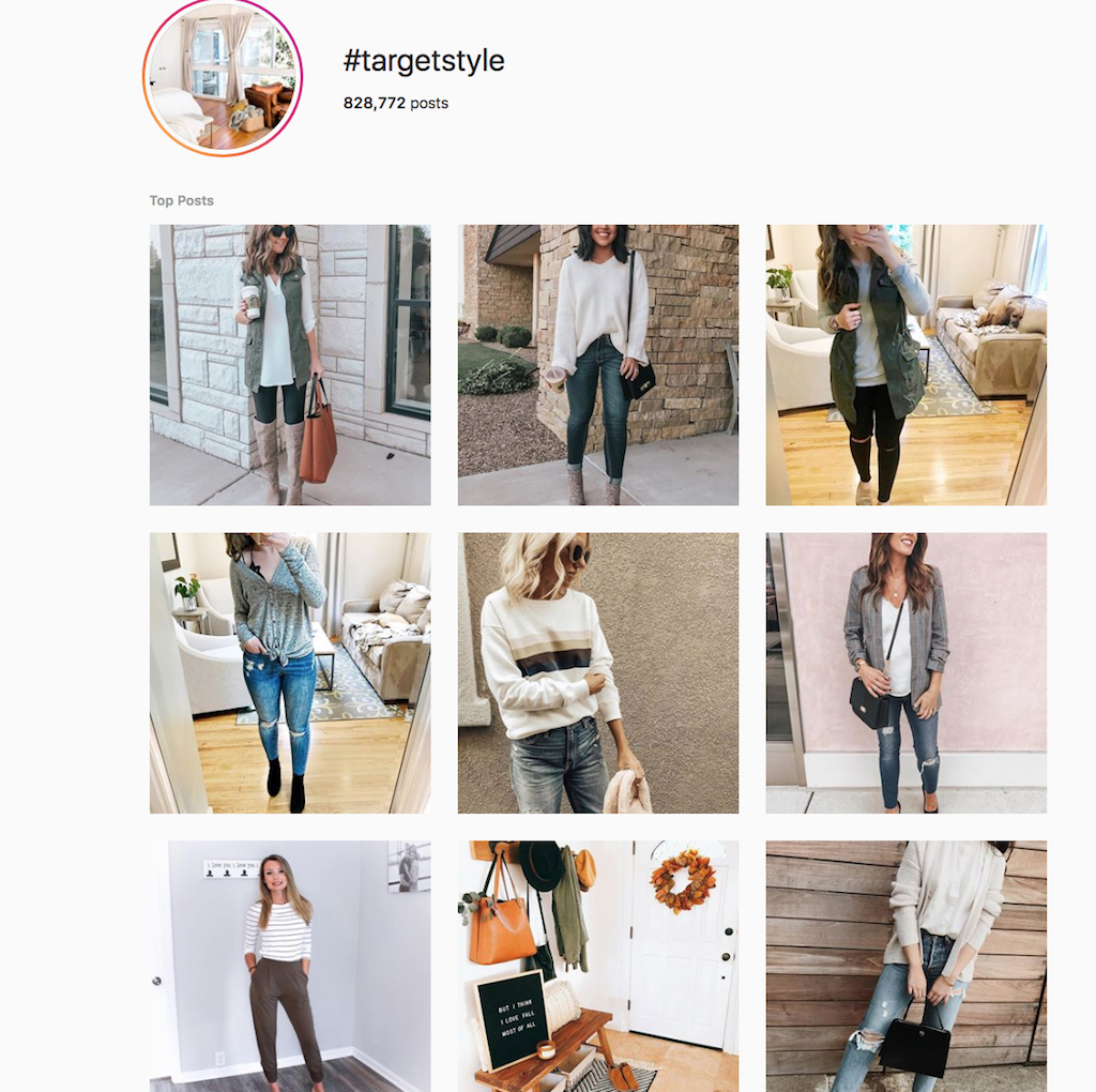 Instagram fashion inspiration shows nine women taking pictures of their outfits, as compared to the 20th century without this technology