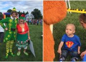 ohio town throws christmas parade for Brody Allen, a two-year-old boy with only a month left to live.