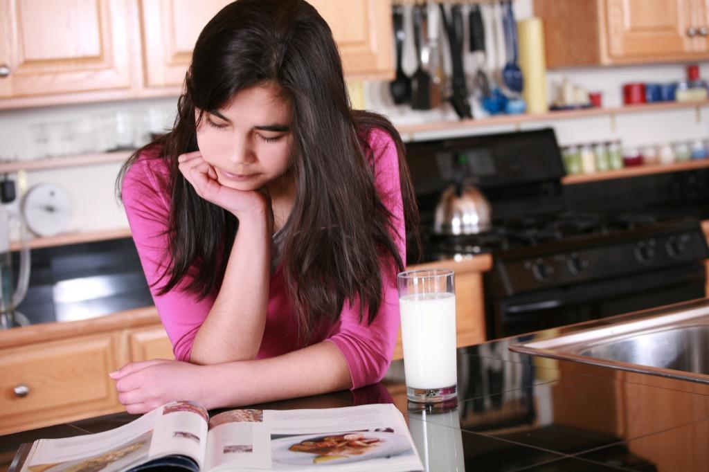 teen in kitchen