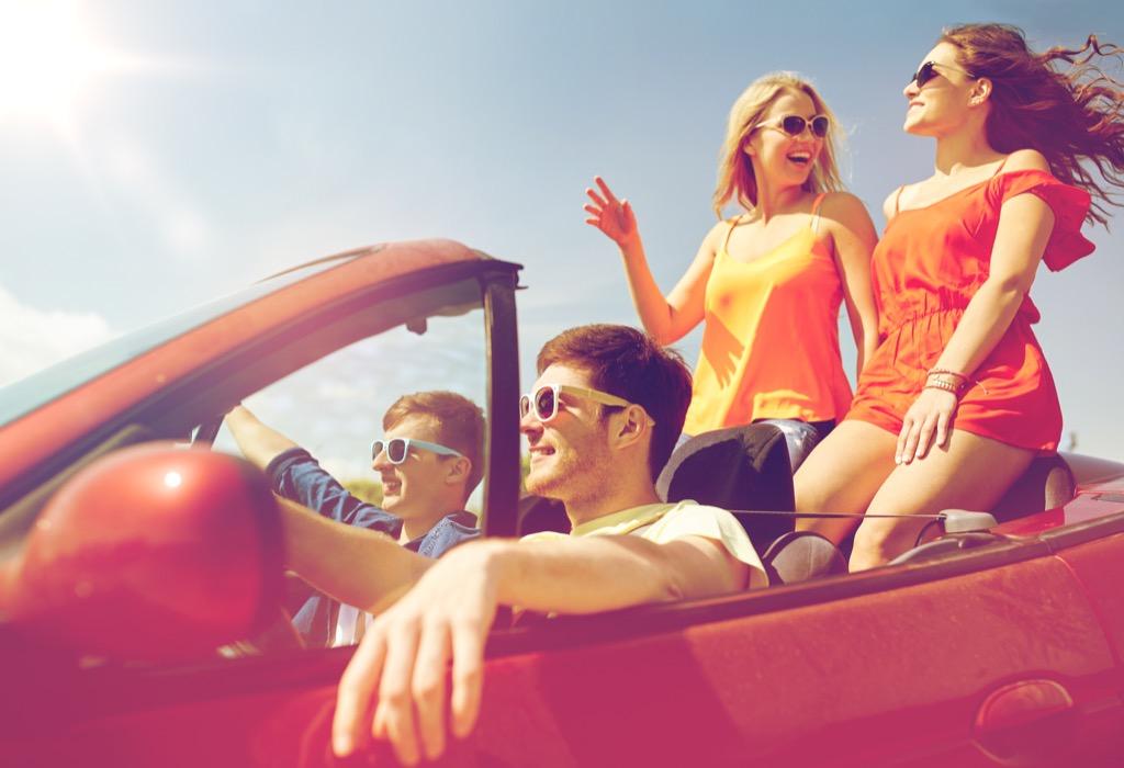 teens in convertible