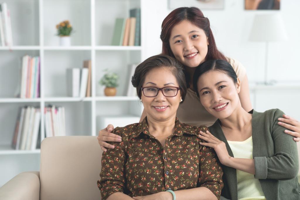 three generations of a family http://www.tinatessina.com/