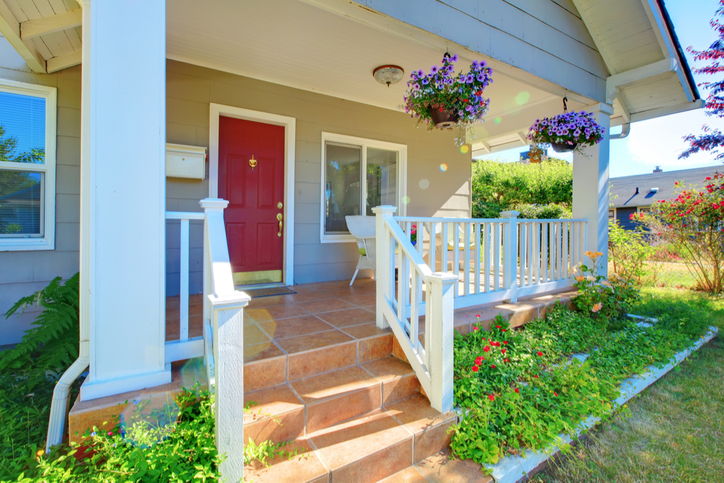 Tile on Front Porch Boosting Your Home's Curb Appeal