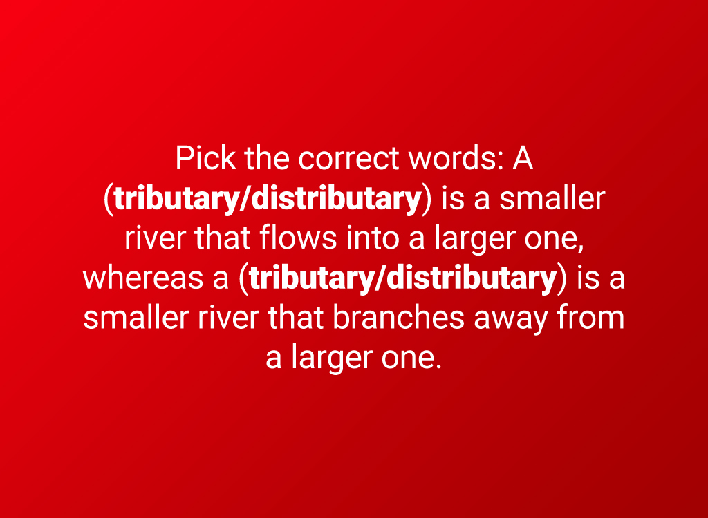 tributary question