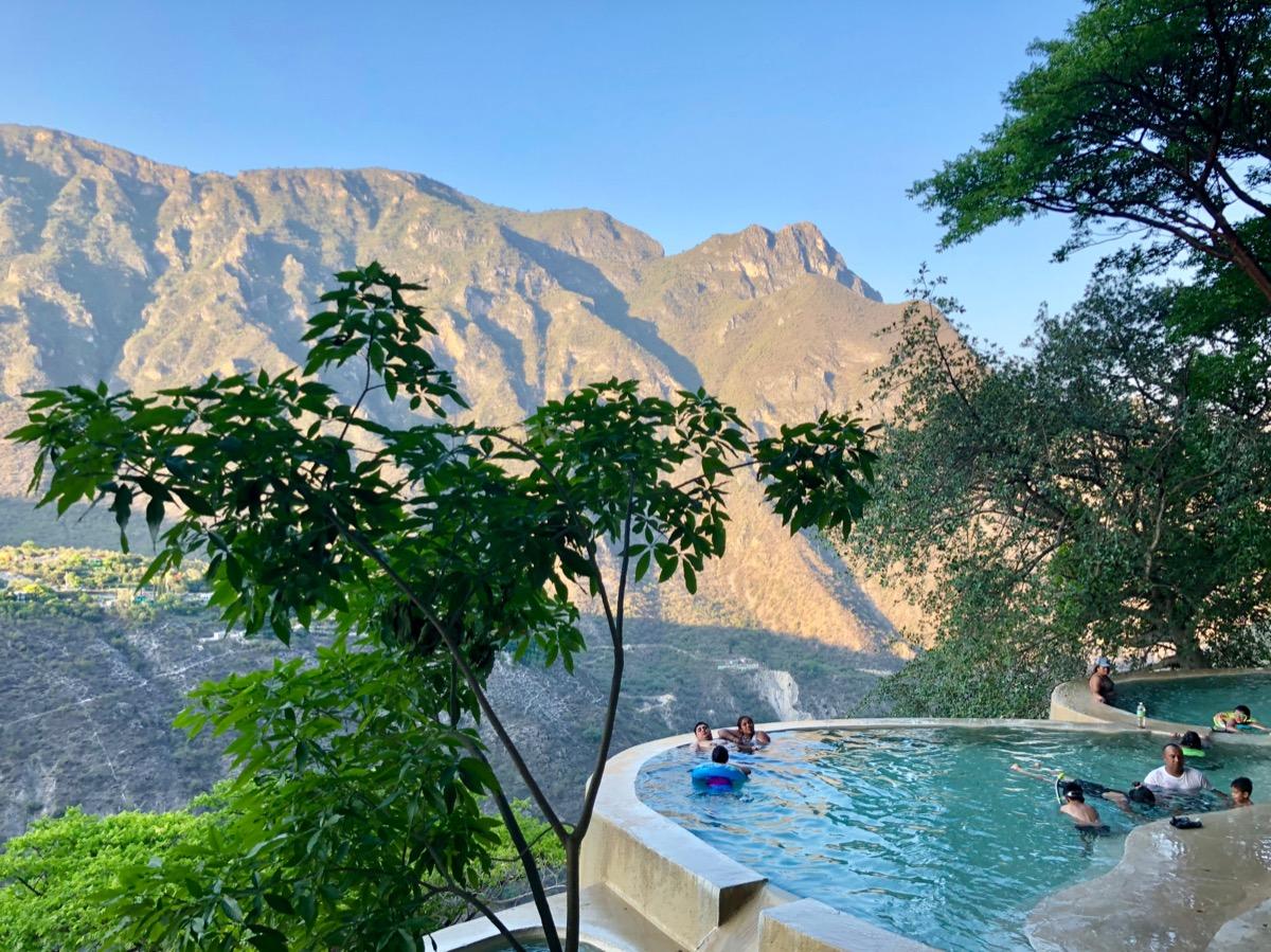natural mineral pool Tolatongo, Mexico