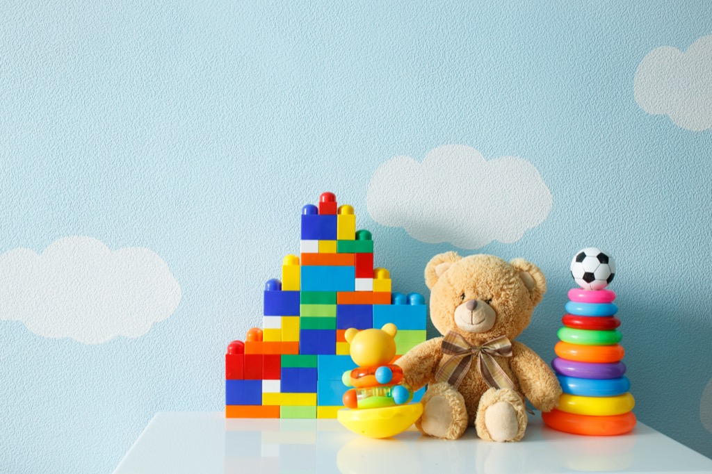 teddy bear and legos