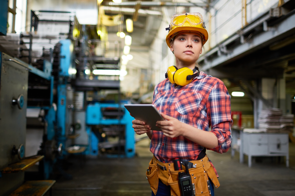 Woman in factory job jobs with high divorce rates
