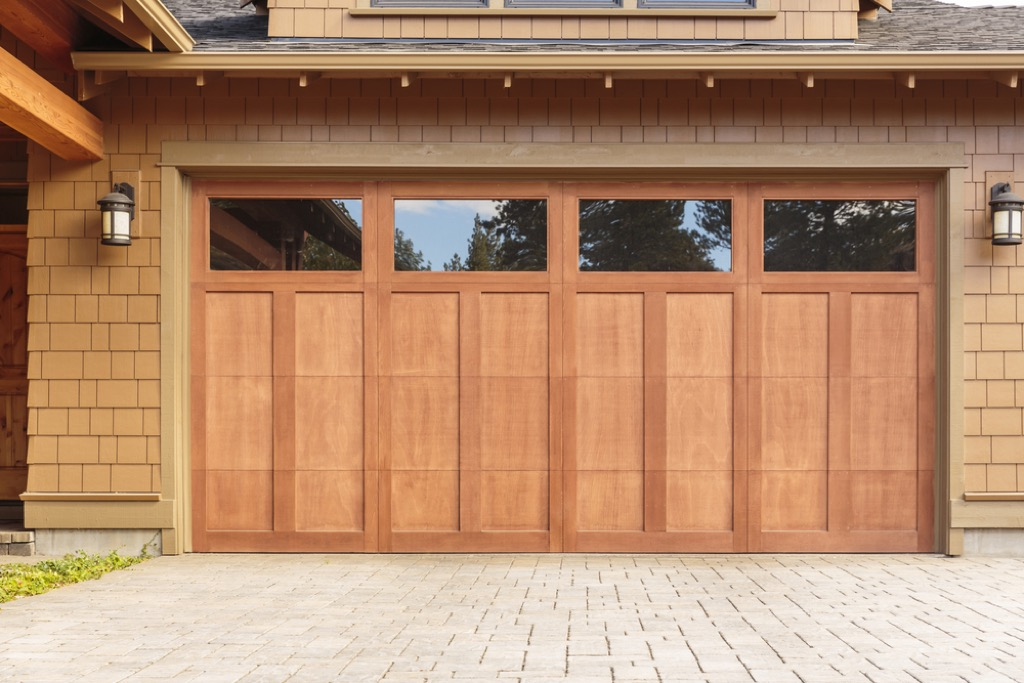 wooden garage door, home upgrades
