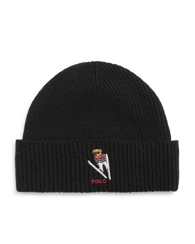 Polo ski hat with ski bear