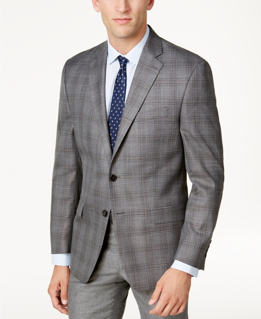 Gray polo suit jacket