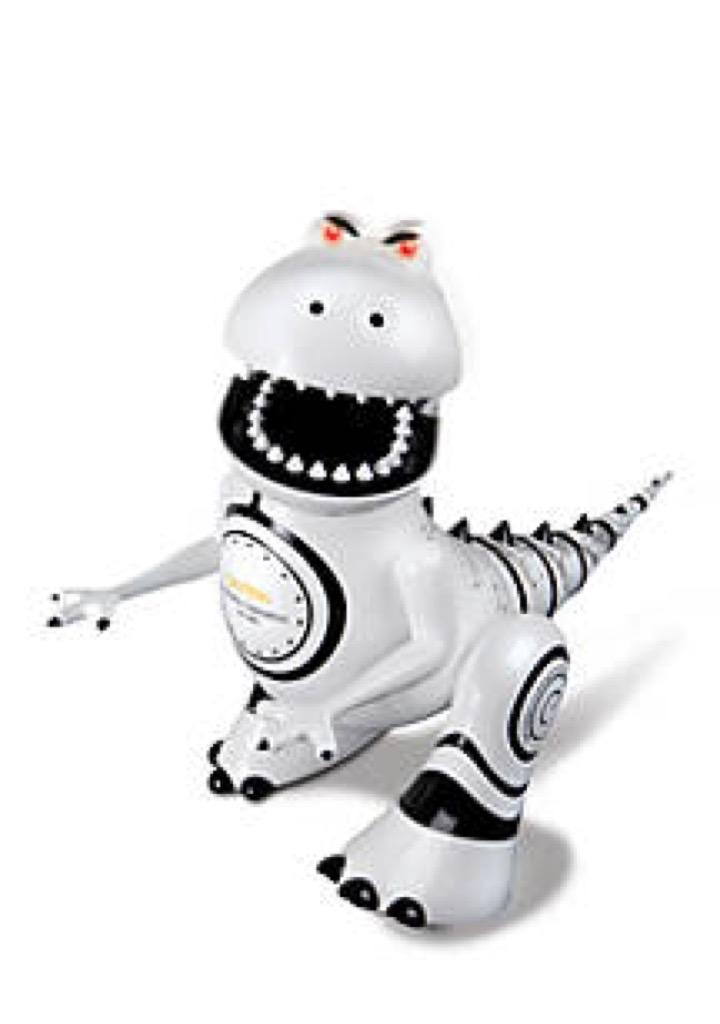 A toy robotic dinosaur