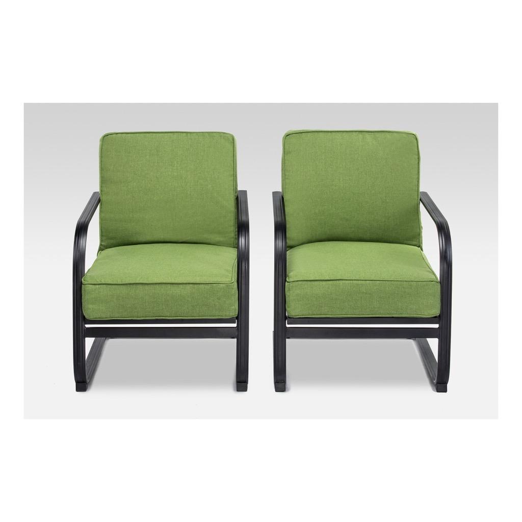A kiwi green outdoor patio chair set