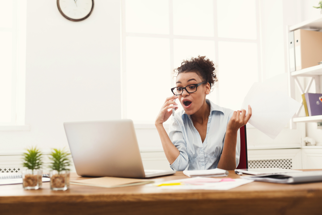 Angry Woman on Phone Worst Things to Say to Customer Service