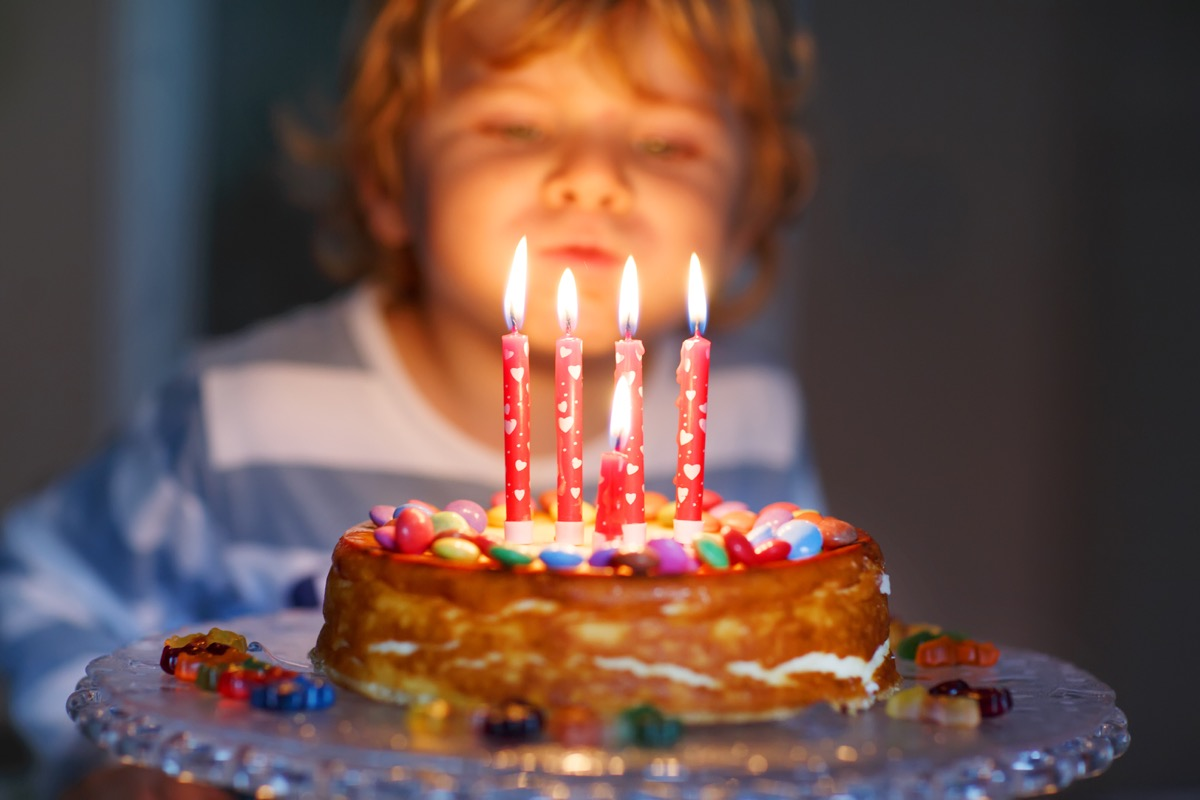 Candles on Birthday Cakes