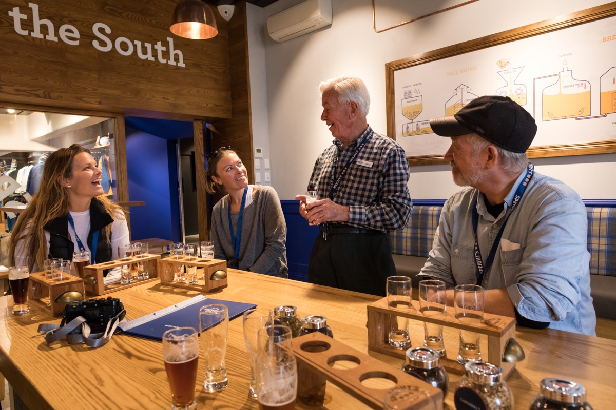People taking a brewery tour