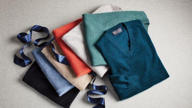 brooks brothers cashmere v neck sweaters