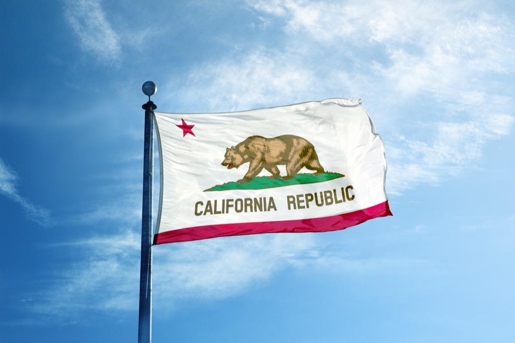 calfornia flag crazy facts