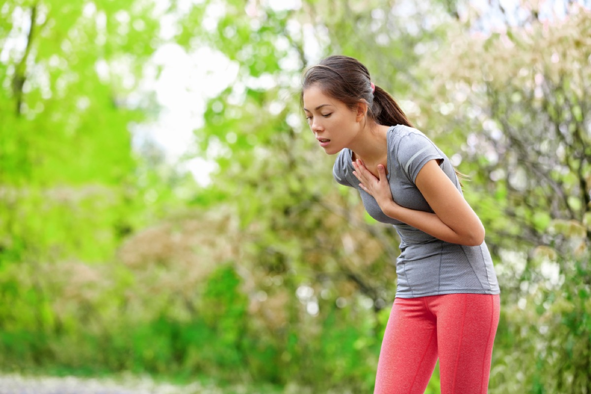 jogger with chest pain, signs your cold is serious